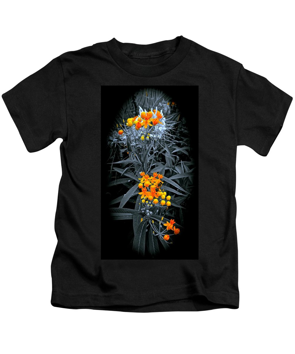 Gardens Kids T-Shirt featuring the photograph Bits Of Gold by Tim G Ross