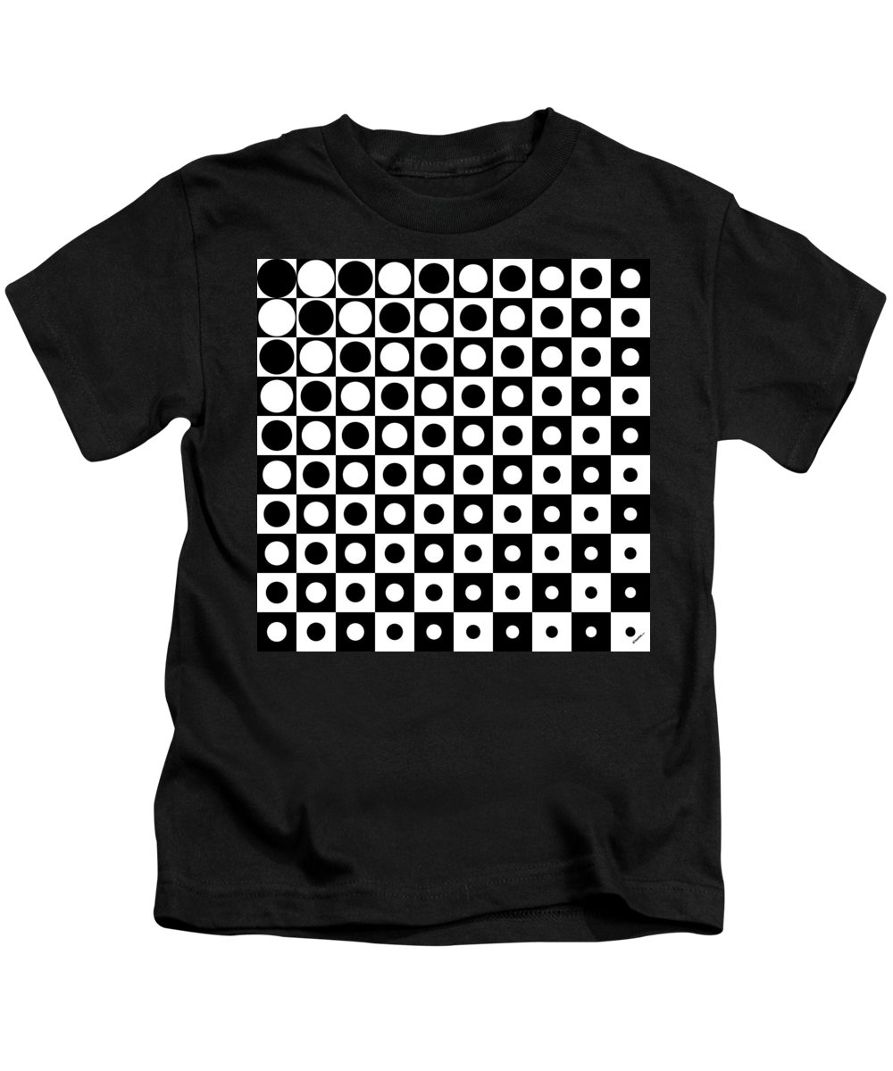 Black Kids T-Shirt featuring the digital art Black And White, No. 1 by James Kramer