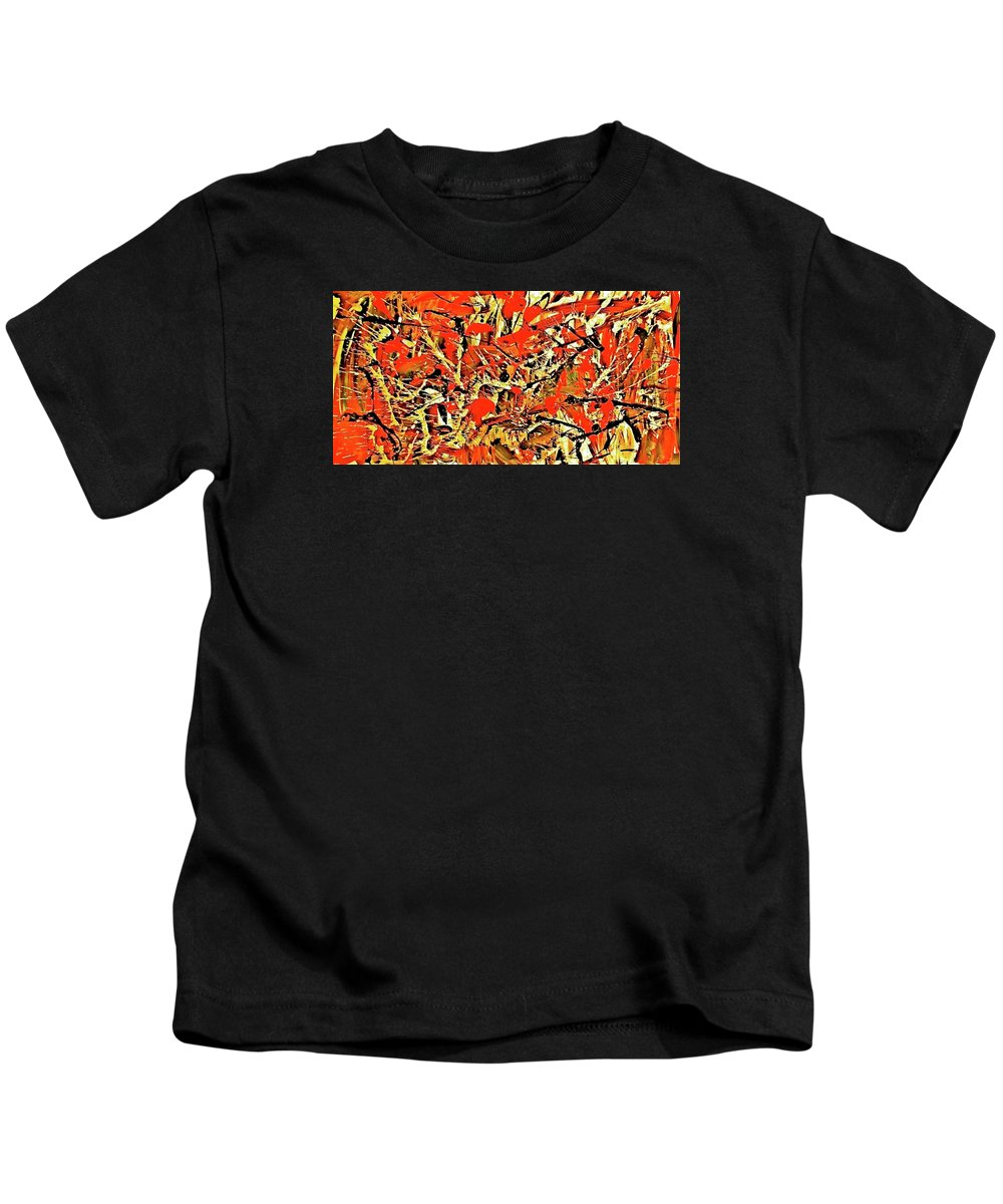 Canvas Prints Kids T-Shirt featuring the painting Black Cherry by Monique's Fine Art