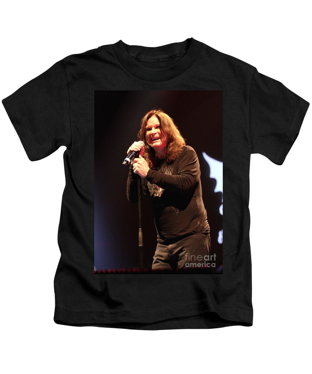 Singer Kids T-Shirt featuring the photograph Black Sabbath - Ozzy Osbourne by Concert Photos