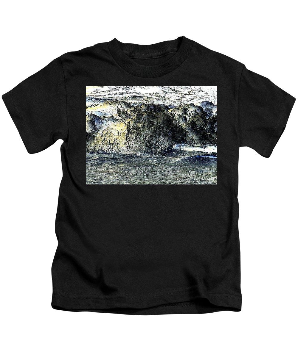 Nature Kids T-Shirt featuring the photograph Black Surf by Ed Weidman