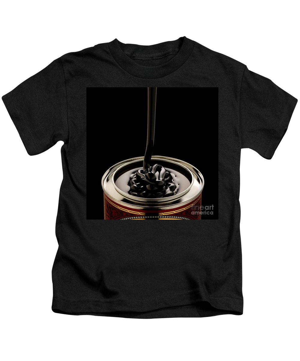 Black Treacle Kids T-Shirt featuring the photograph Black Treacle And Can by Bailey Cooper