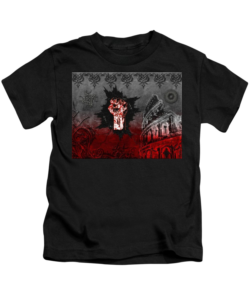 Blood Kids T-Shirt featuring the digital art Blood Lust by Michael Damiani