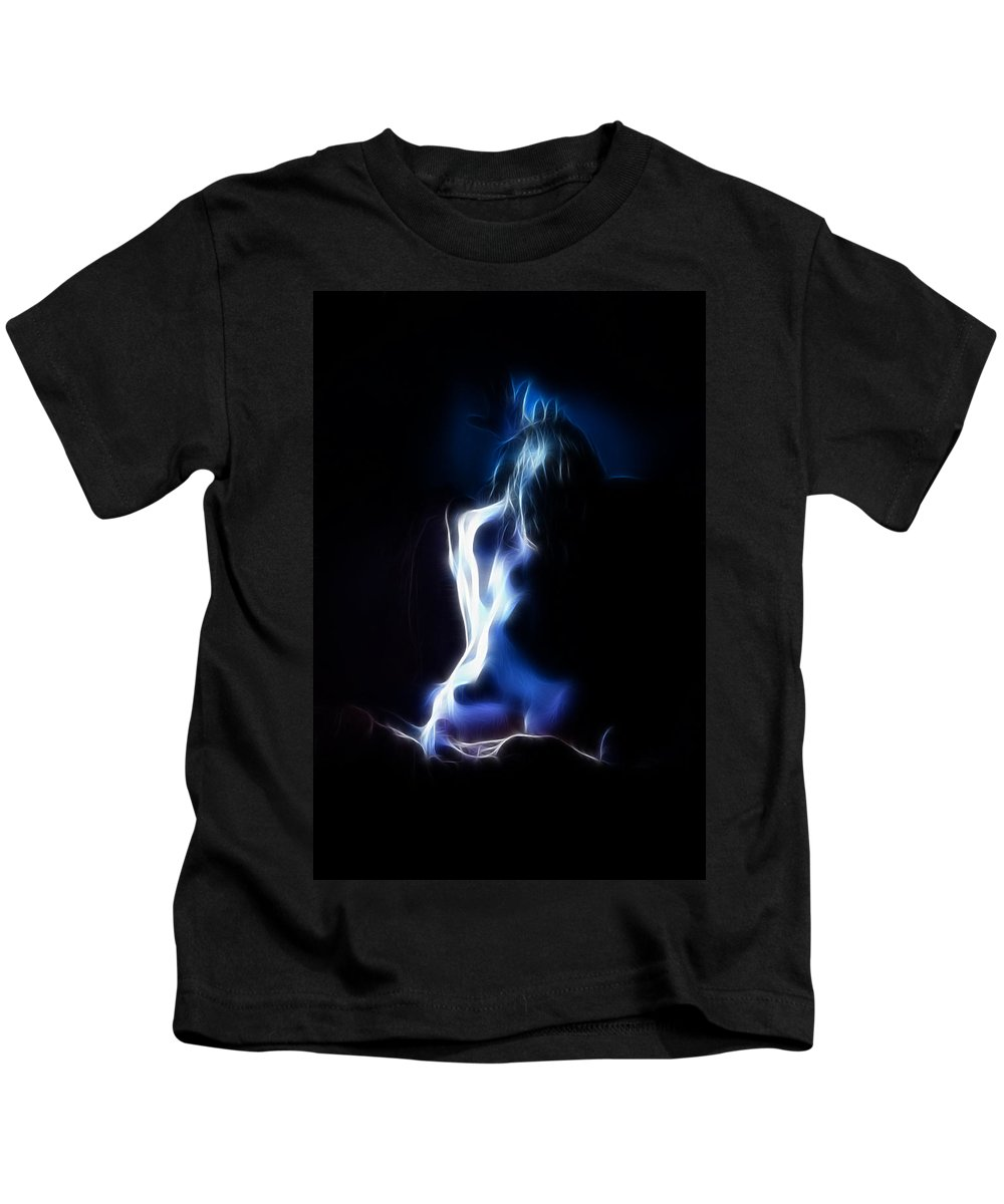 Color Kids T-Shirt featuring the photograph Blue Form 4022 by Timothy Bischoff