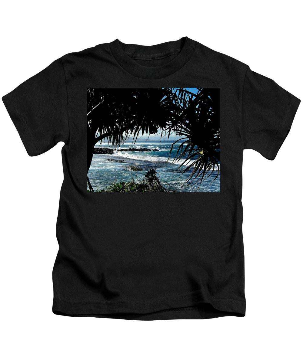 Water Kids T-Shirt featuring the photograph Blue Hawaii by Karen Wiles