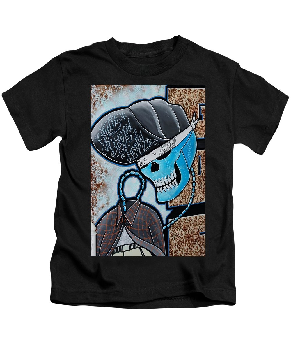 Skull Kids T-Shirt featuring the photograph Blueskully by Rob Hans