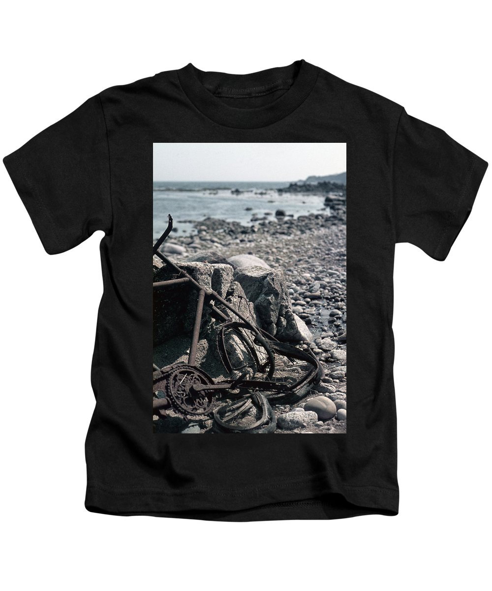 Vintage Kids T-Shirt featuring the photograph Bornholm Bicycle by David Hohmann