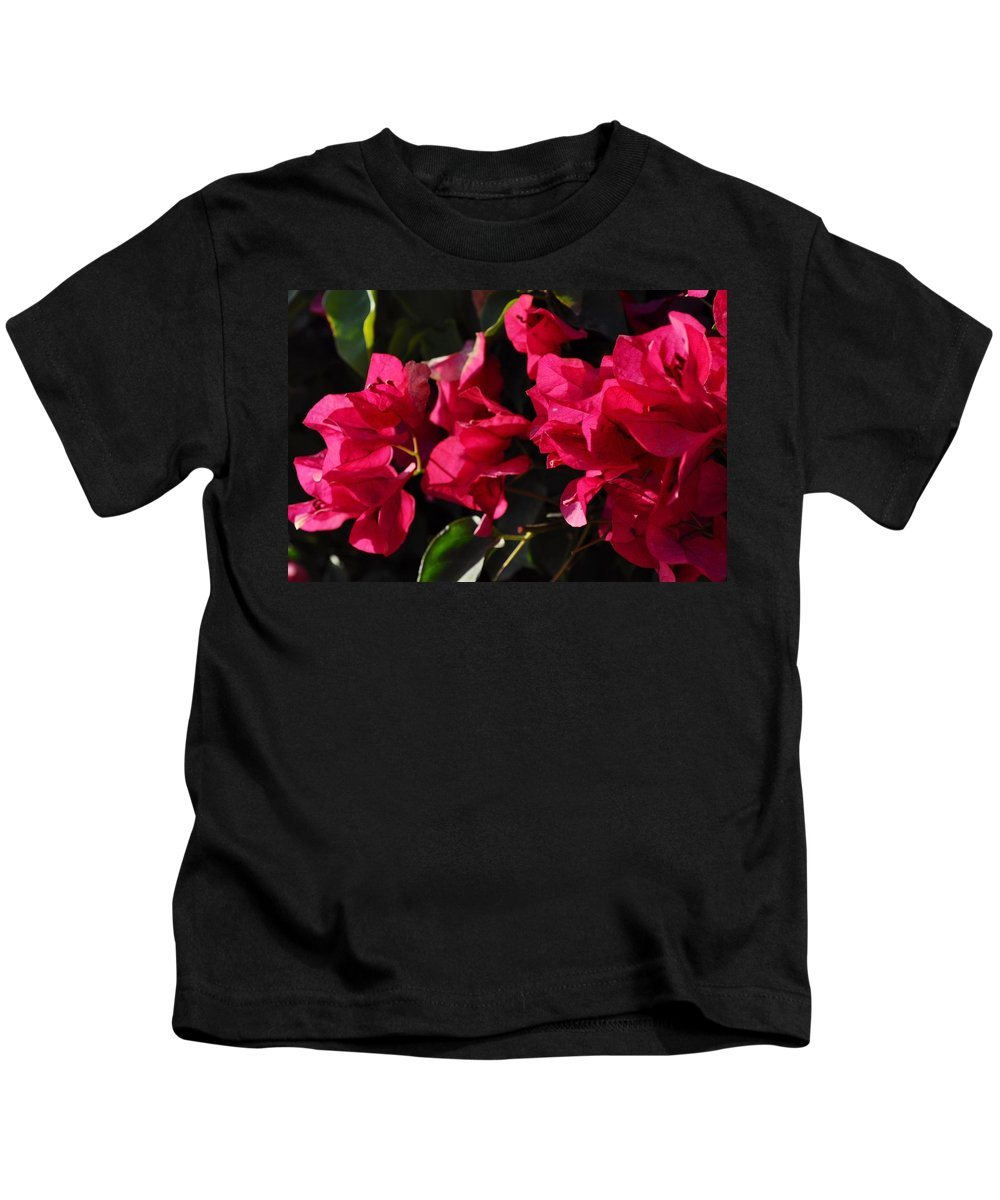 Flowers Kids T-Shirt featuring the photograph Bougainvillea by Csilla Florida