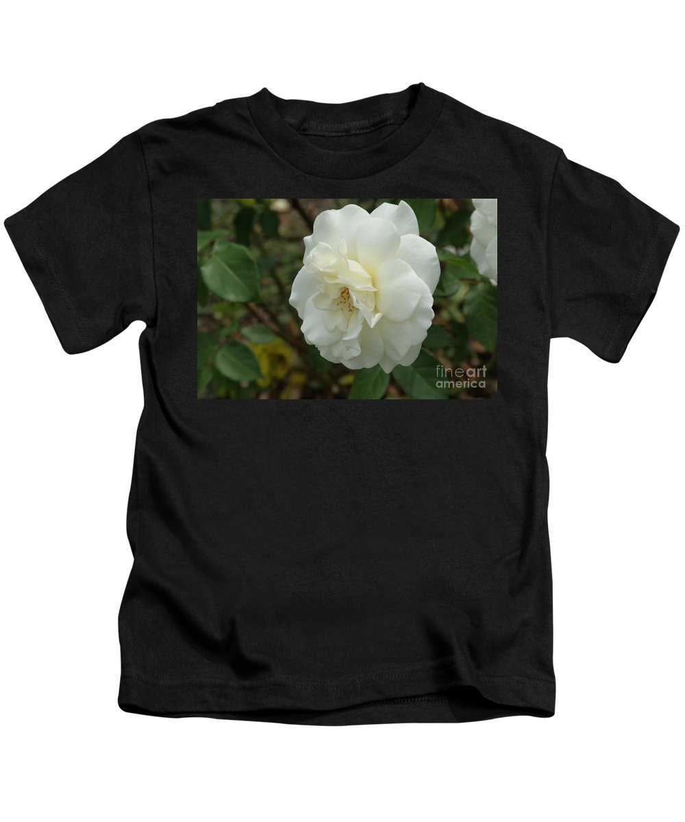 Big Kids T-Shirt featuring the photograph Bountiful White Rose... by Rob Luzier