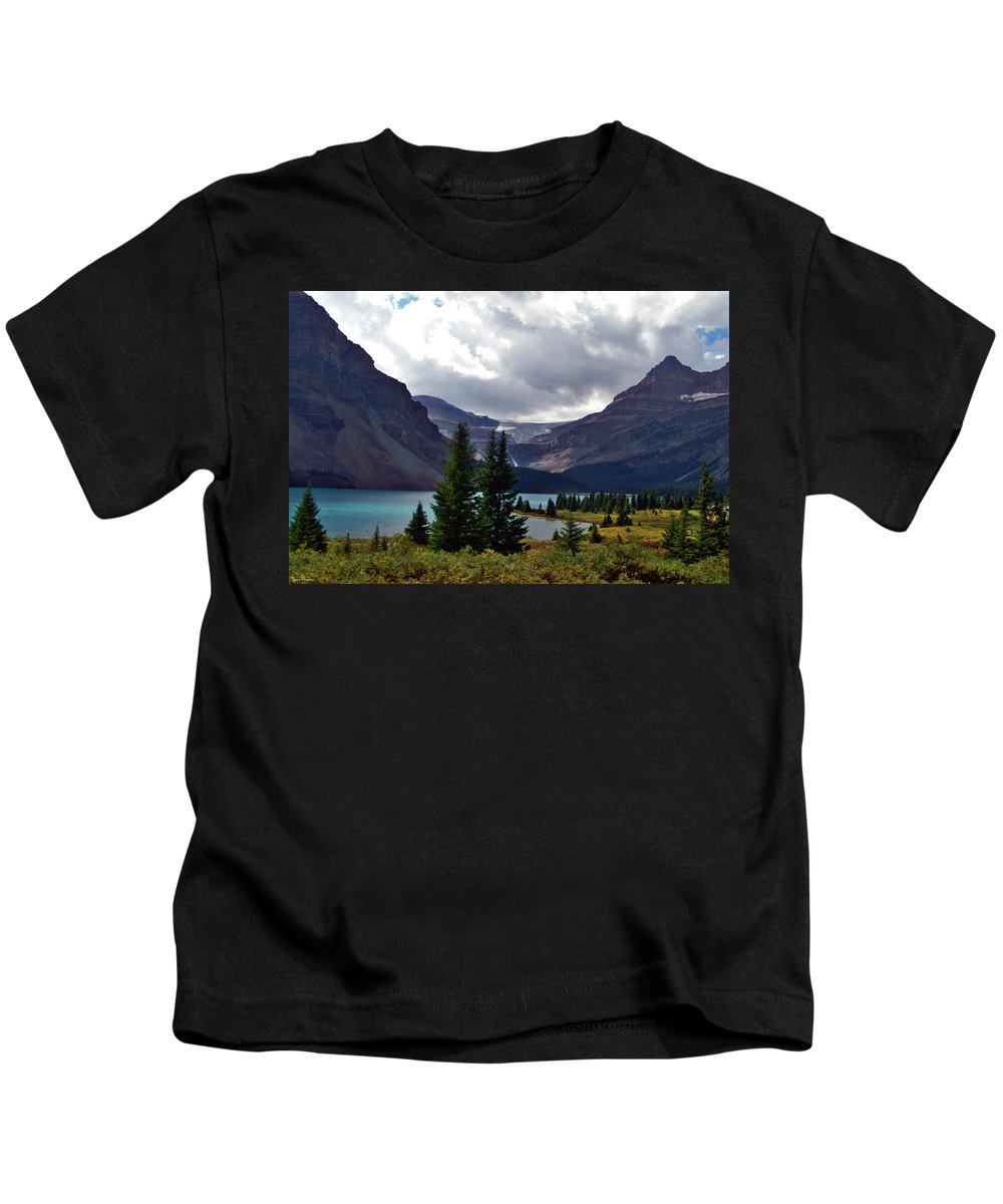 Jeremy Rhoades Kids T-Shirt featuring the photograph Bow Lake by Jeremy Rhoades