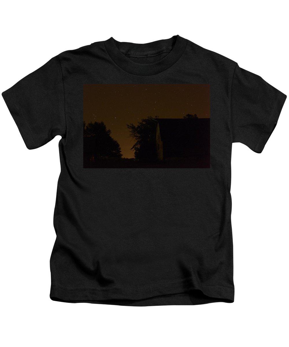 Barn Kids T-Shirt featuring the photograph Boylan Barn Twilight 2 by Bonfire Photography