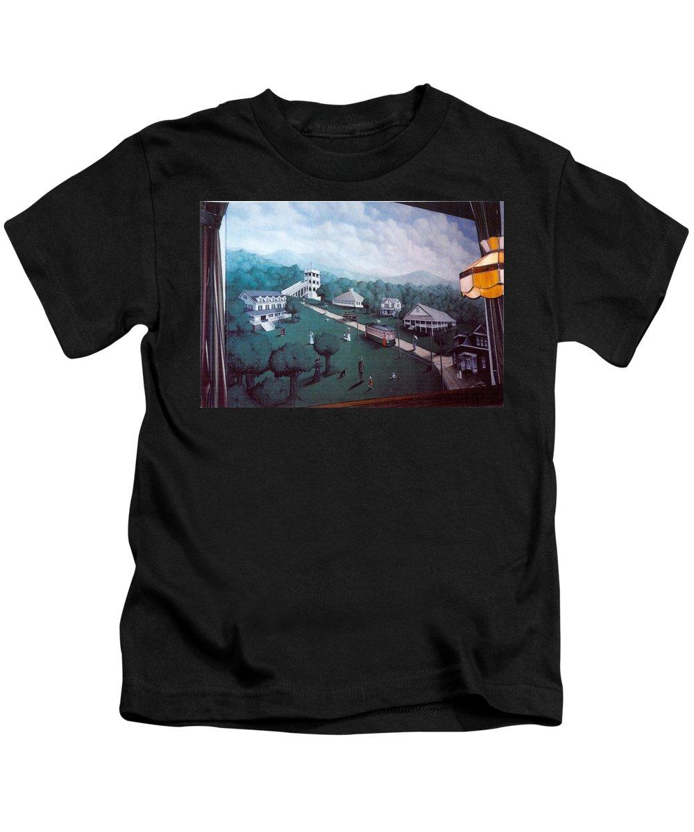 Painting Mural Landscape Kids T-Shirt featuring the painting Braddock Heights Mural by Matt Mercer
