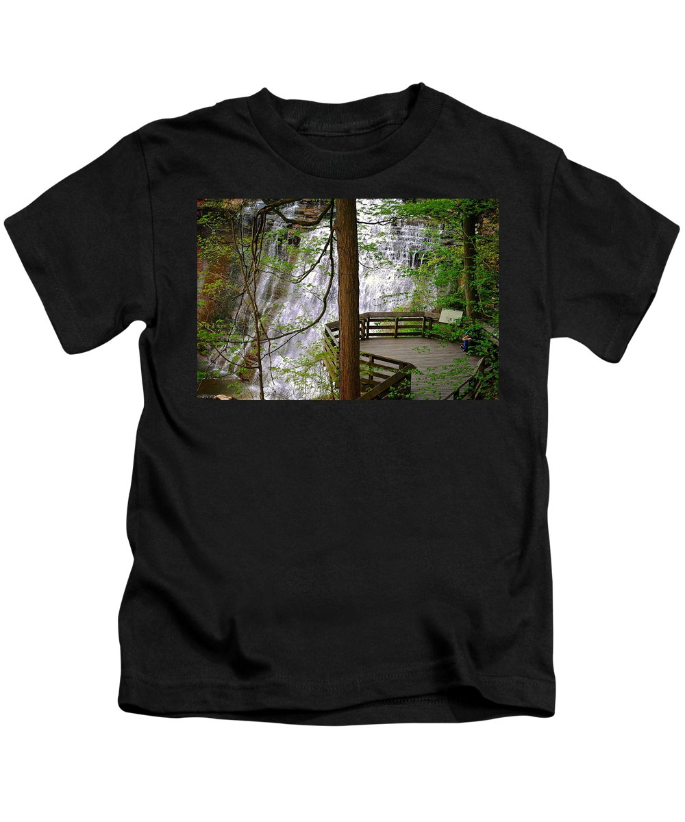 Waterfall Kids T-Shirt featuring the photograph Brandywine Falls by Frozen in Time Fine Art Photography