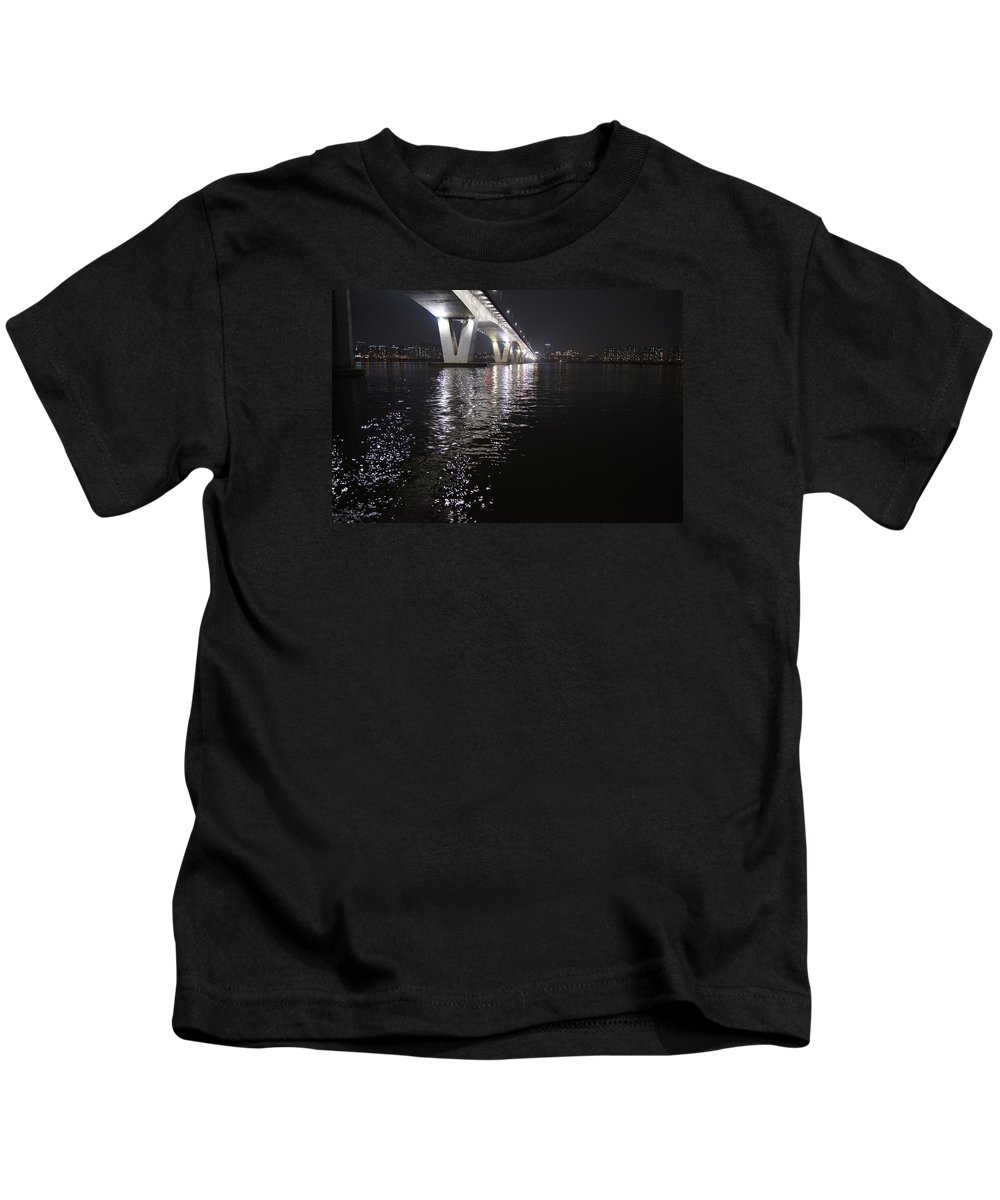 Korea Kids T-Shirt featuring the photograph Bridge Korea by FL collection