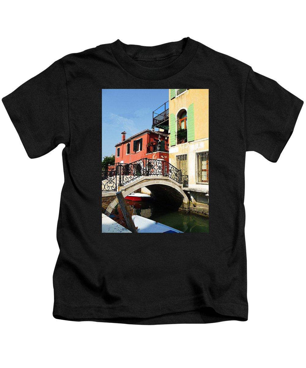 Italy Kids T-Shirt featuring the photograph Bridges Of Venice by Irina Sztukowski