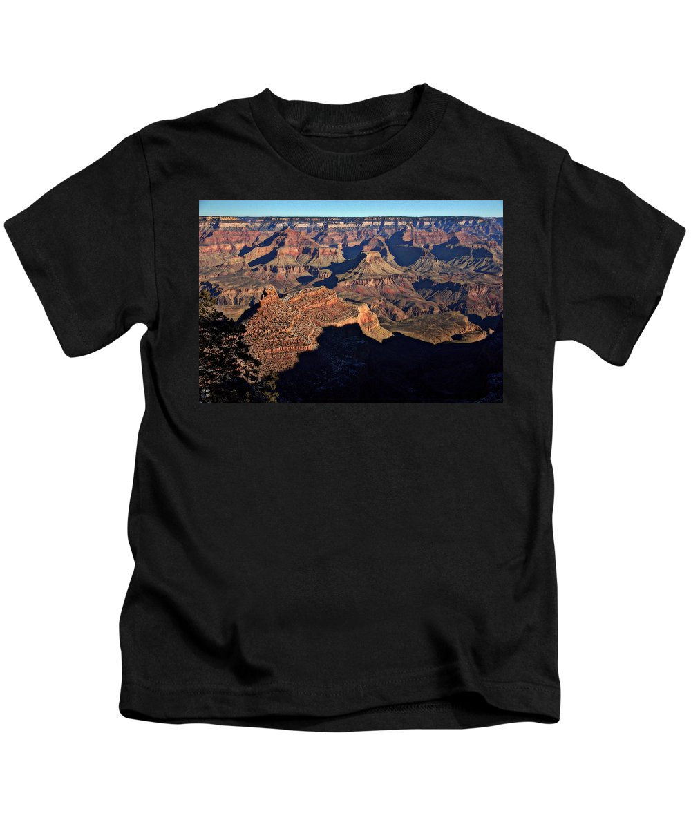 Grand Canyon National Park Kids T-Shirt featuring the photograph Bright Angel Canyon by Suzanne Stout
