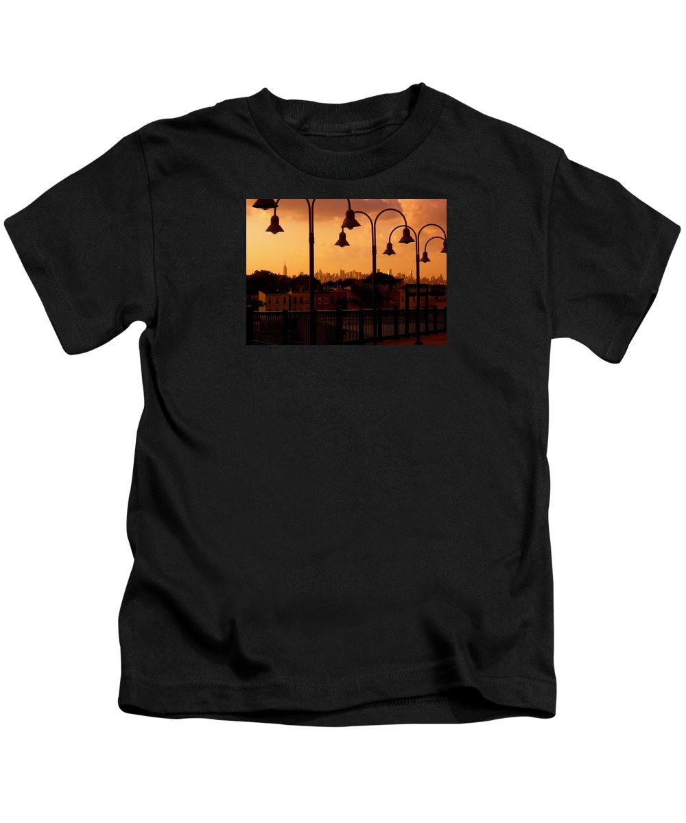 Iphone Cover Cases Kids T-Shirt featuring the photograph Broadway Junction In Brooklyn, New York by Monique's Fine Art