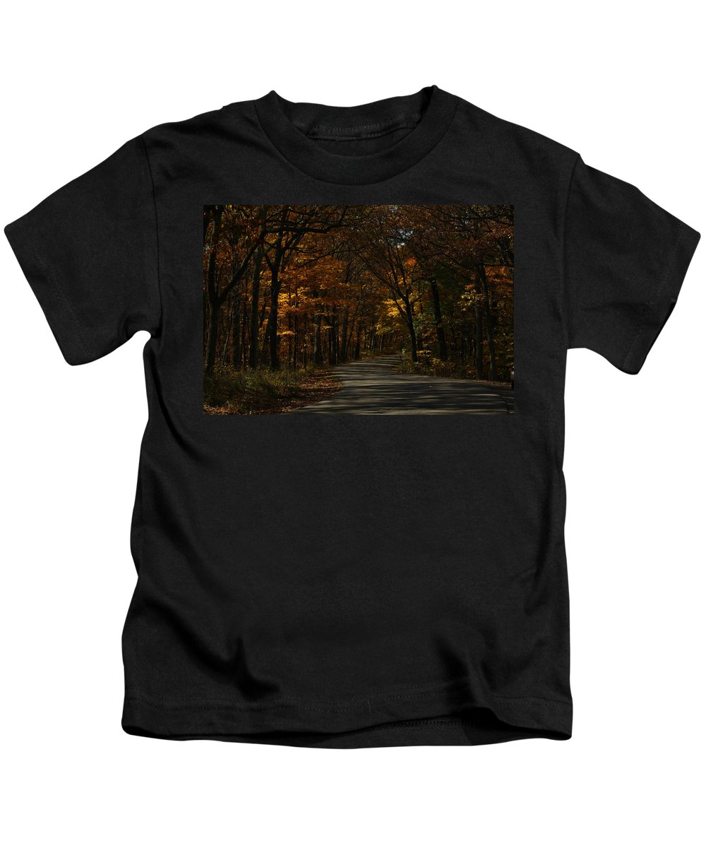 Brown County State Park Kids T-Shirt featuring the photograph Brown County State Park by Dan McCafferty