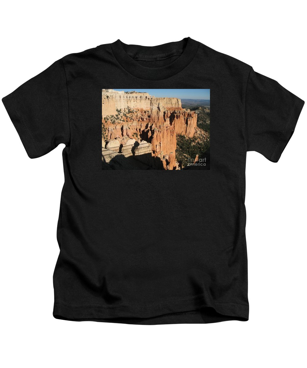 Rocks Kids T-Shirt featuring the photograph Bryce Canyon Hoodoos by Christiane Schulze Art And Photography