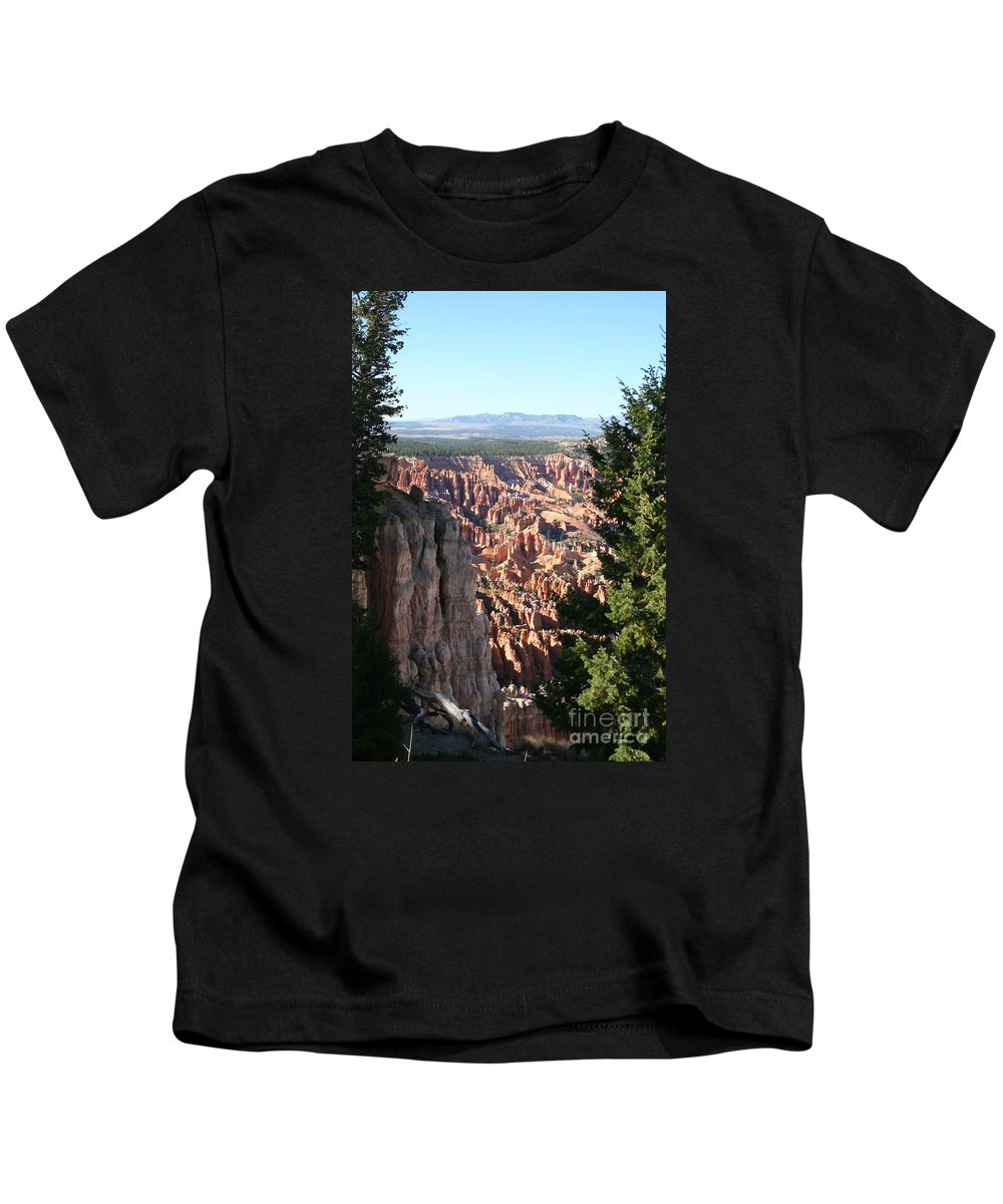 Canyon Kids T-Shirt featuring the photograph Bryce Canyon Overview by Christiane Schulze Art And Photography