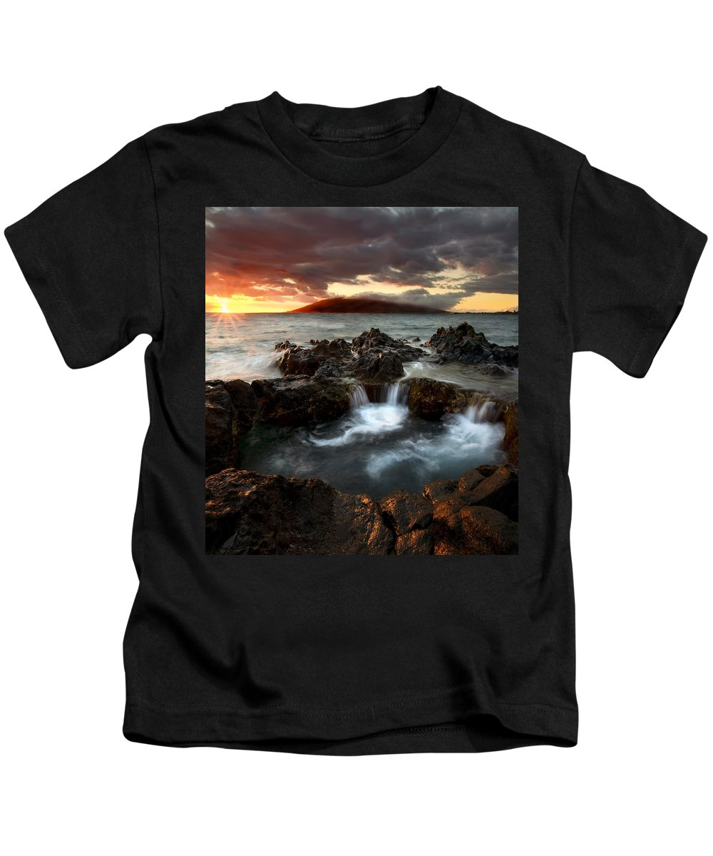 Sunset Kids T-Shirt featuring the photograph Bubbling Cauldron by Mike Dawson