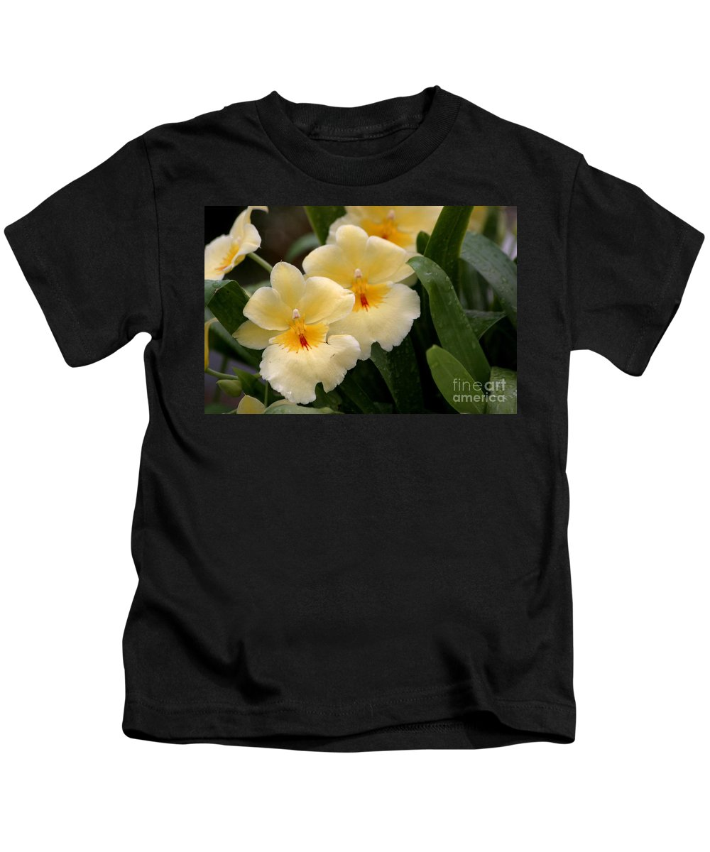 Orchids Kids T-Shirt featuring the photograph Build Me Up Buttercup by Living Color Photography Lorraine Lynch
