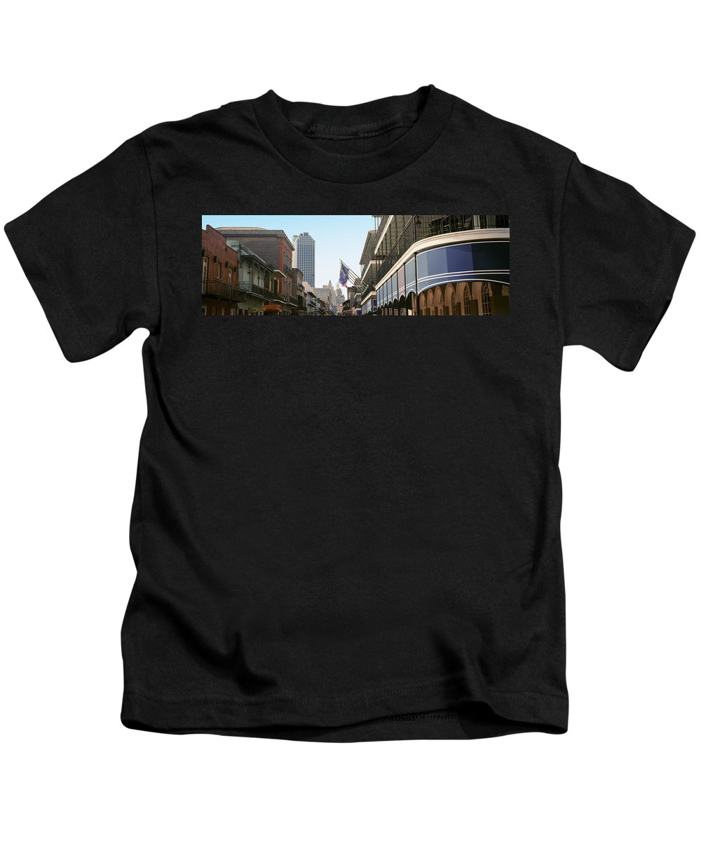 Photography Kids T-Shirt featuring the photograph Buildings In A City, Four Points By by Panoramic Images