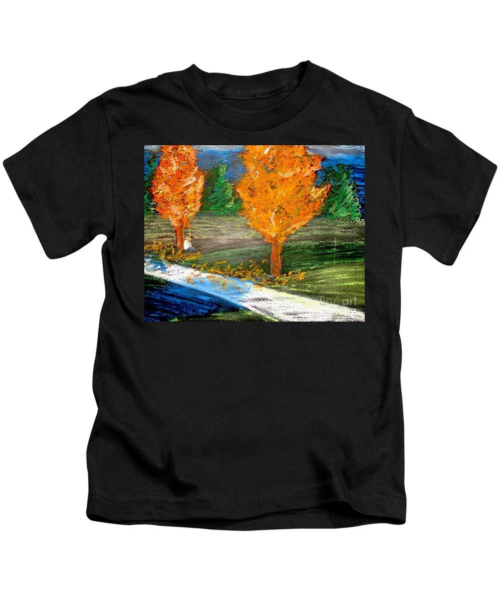 Pastel Kids T-Shirt featuring the photograph Burning Trees by Ryan Burton