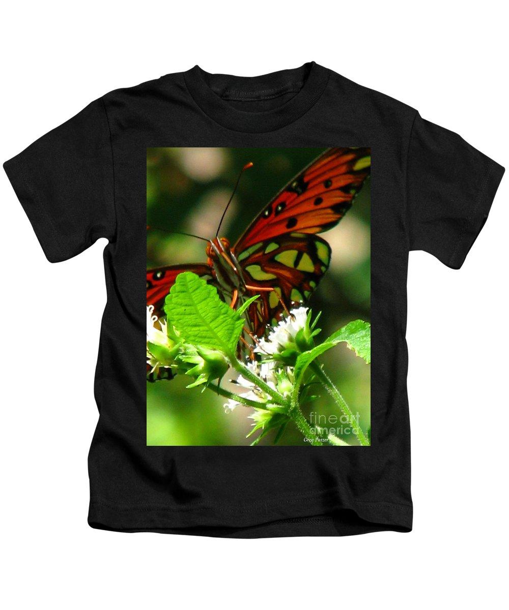 Patzer Kids T-Shirt featuring the photograph Butterfly Art by Greg Patzer