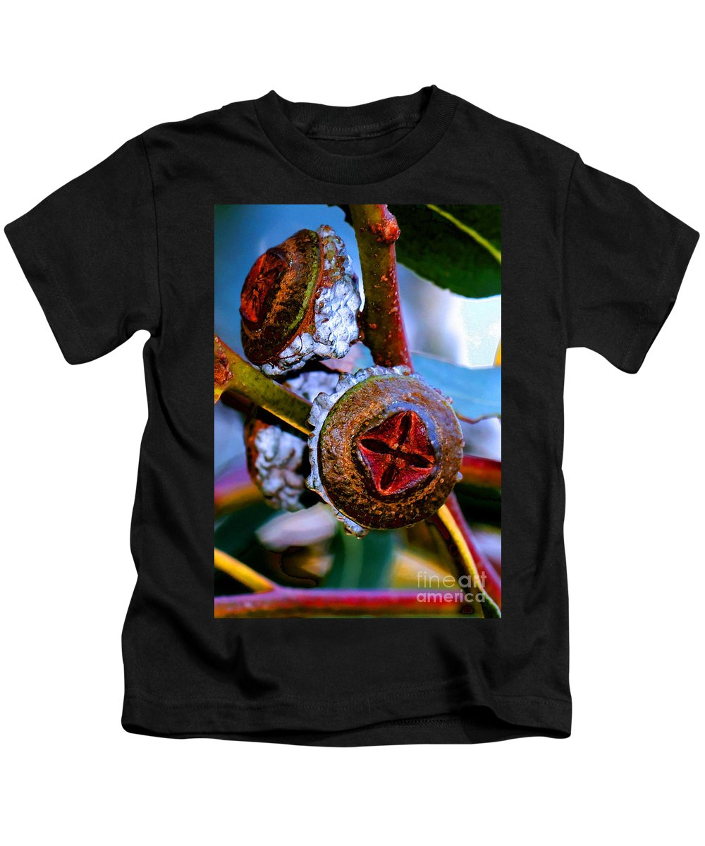 Trees Kids T-Shirt featuring the photograph Pacific Northwest Washington Button Seed Pod by Tap On Photo