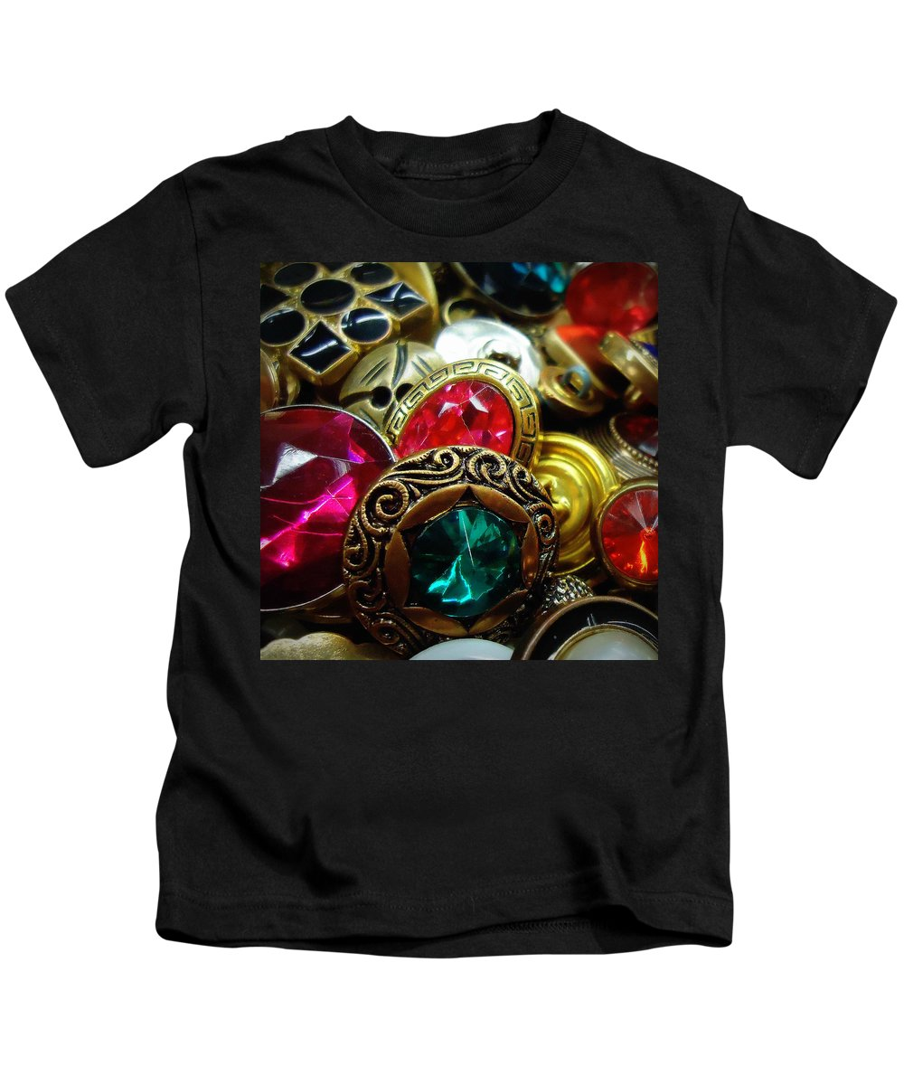Joseph Skompski Kids T-Shirt featuring the photograph Buttons by Joseph Skompski