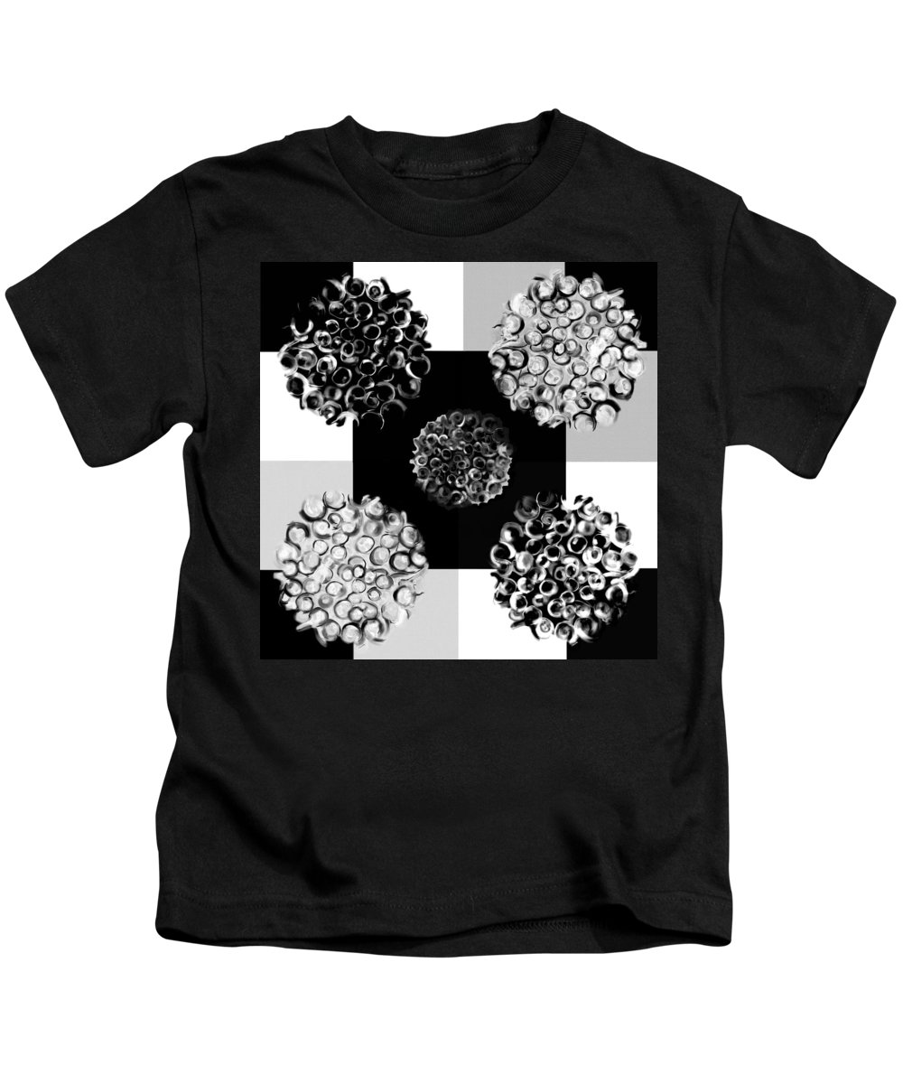 Abstract Kids T-Shirt featuring the digital art Bw Spreeze by Christine Fournier