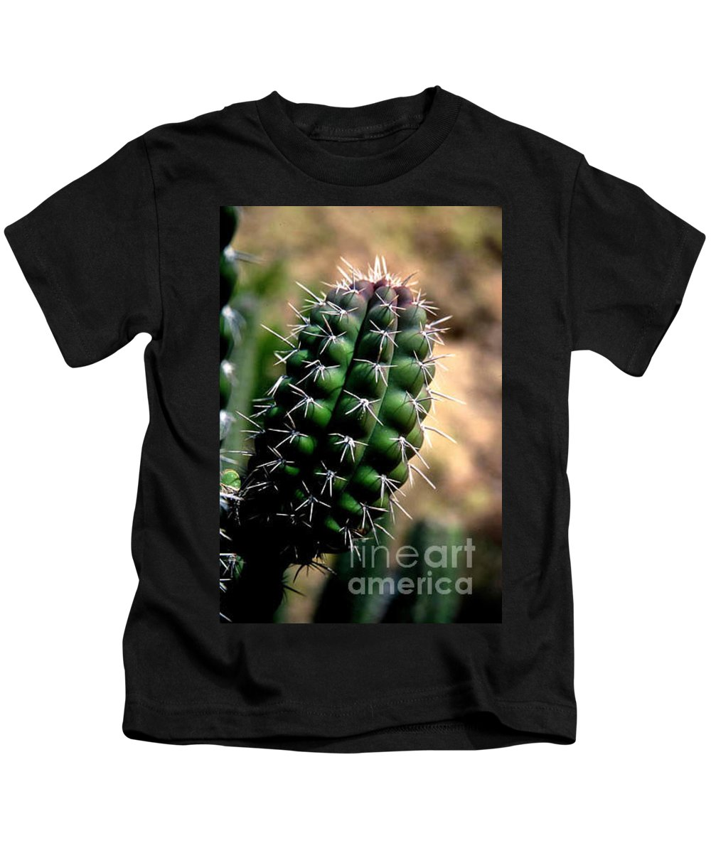 Sahuaro Kids T-Shirt featuring the photograph Cactus Arm by Kathy McClure