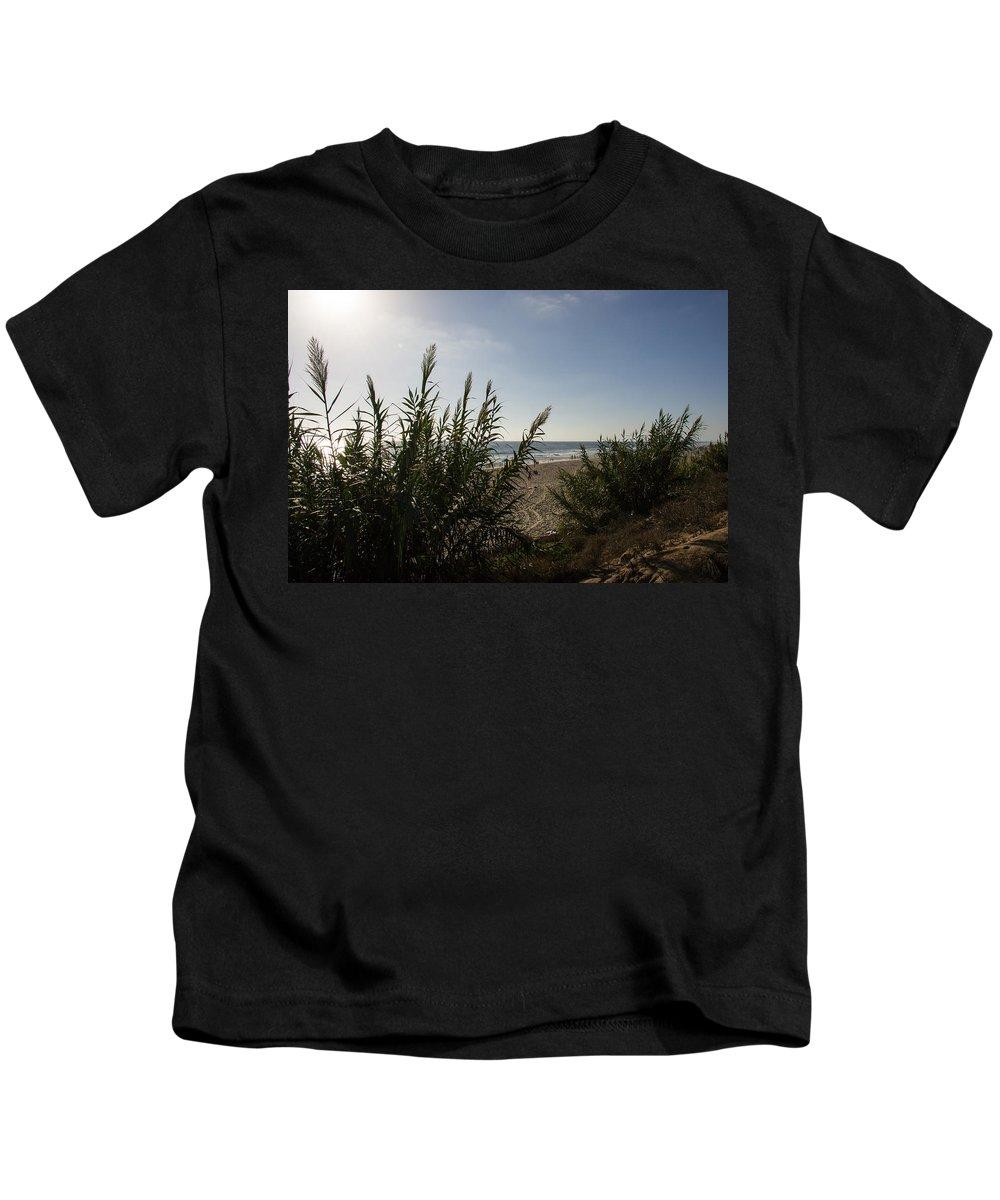 California Kids T-Shirt featuring the photograph California Carlsbad Beach Hidden View by JG Thompson