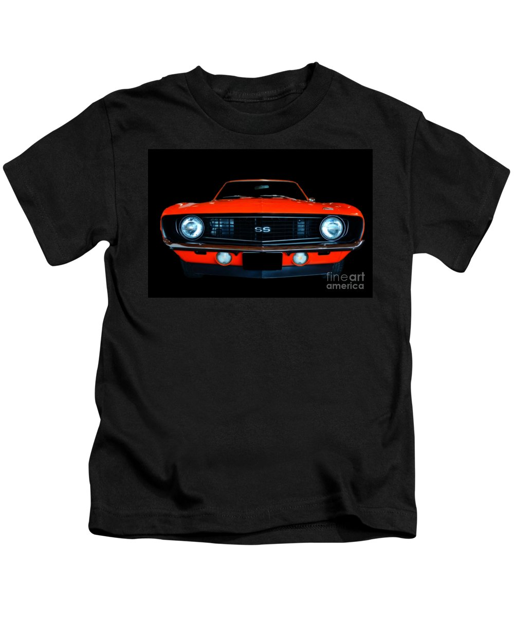 Automobile Kids T-Shirt featuring the photograph Camaro Ss by Frank Larkin