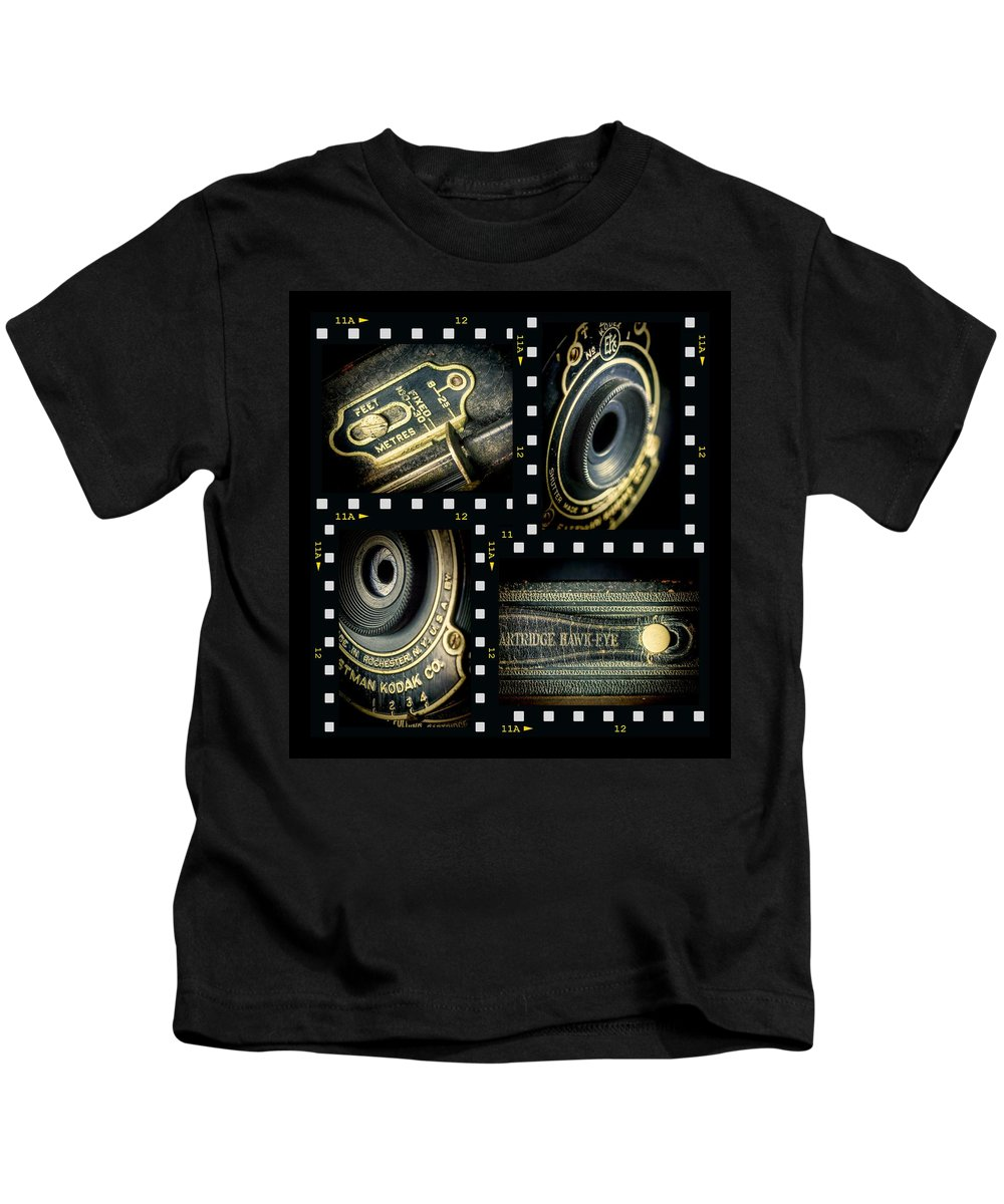 Camera Kids T-Shirt featuring the photograph Camera Collage by Rudy Umans