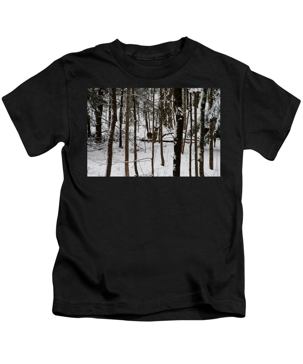 Snow Kids T-Shirt featuring the photograph Camouflage by Barbara S Nickerson