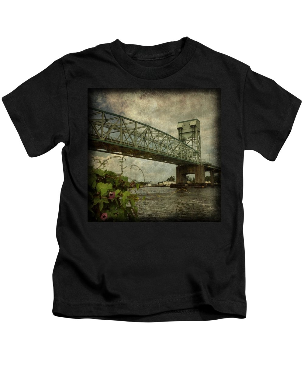 Wilmington Kids T-Shirt featuring the photograph Cape Fear Morning Glory by Dorian Hill
