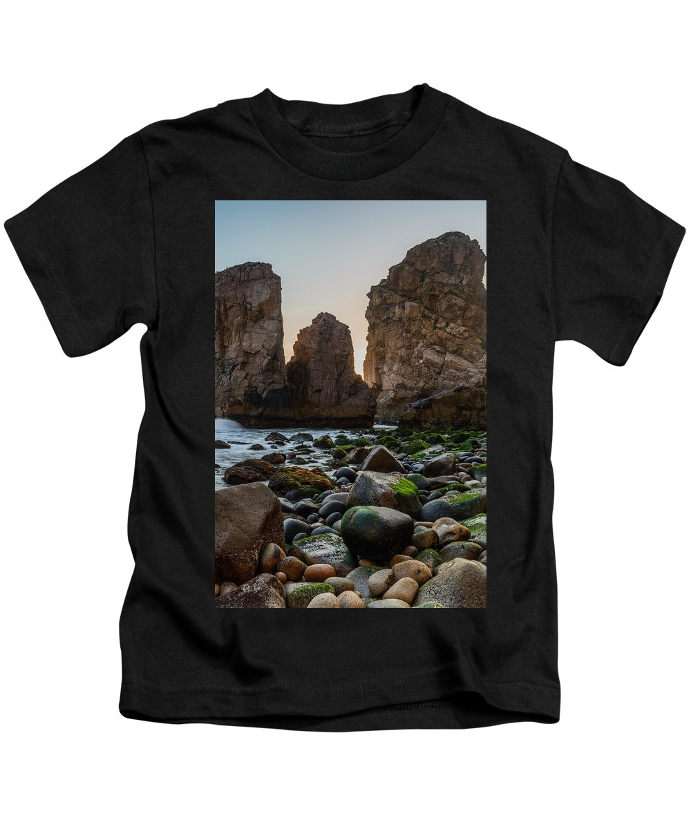 Promontory Kids T-Shirt featuring the photograph Cape Roca I by Marco Oliveira