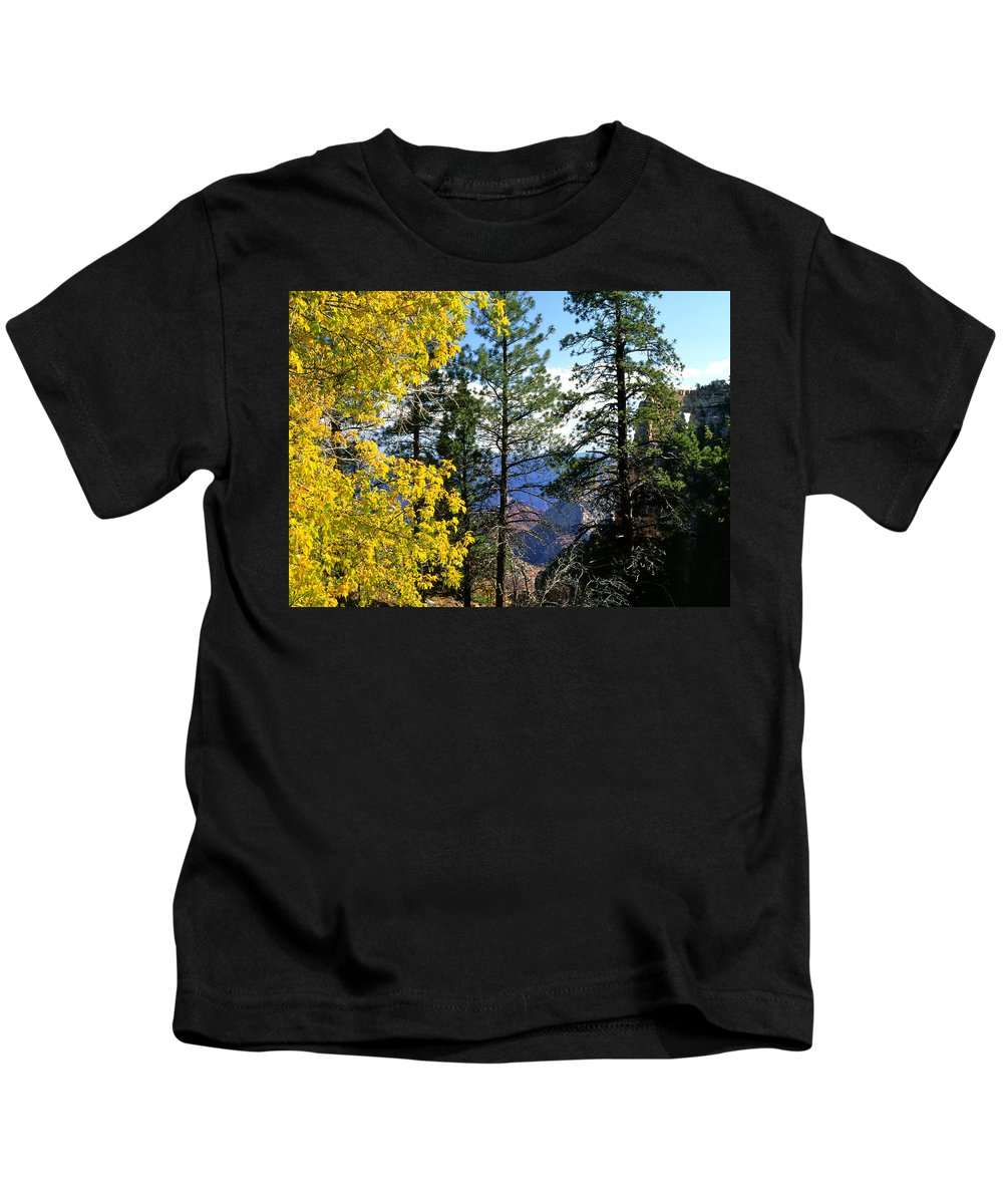 Angel Arch Kids T-Shirt featuring the photograph Cape Royal Grand Canyon by Ed Riche