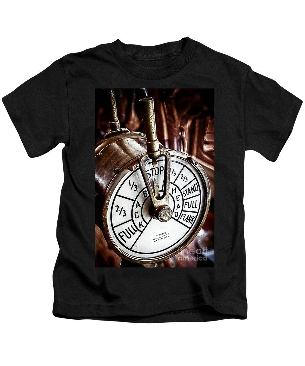 Captain Kids T-Shirt featuring the photograph Captains Controls by David Millenheft