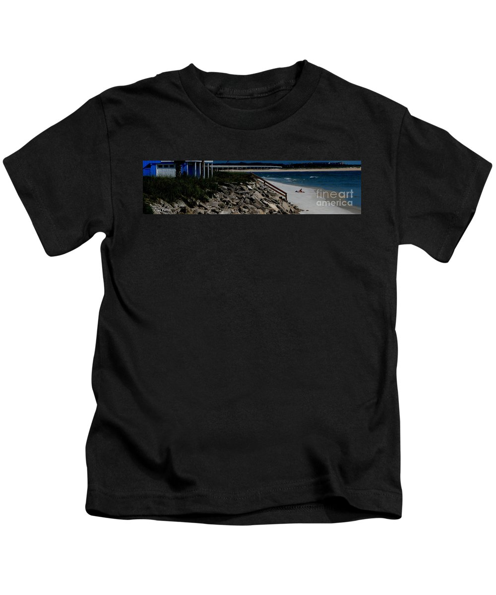Beach Front Kids T-Shirt featuring the photograph Caribbean Colors by Greg Patzer