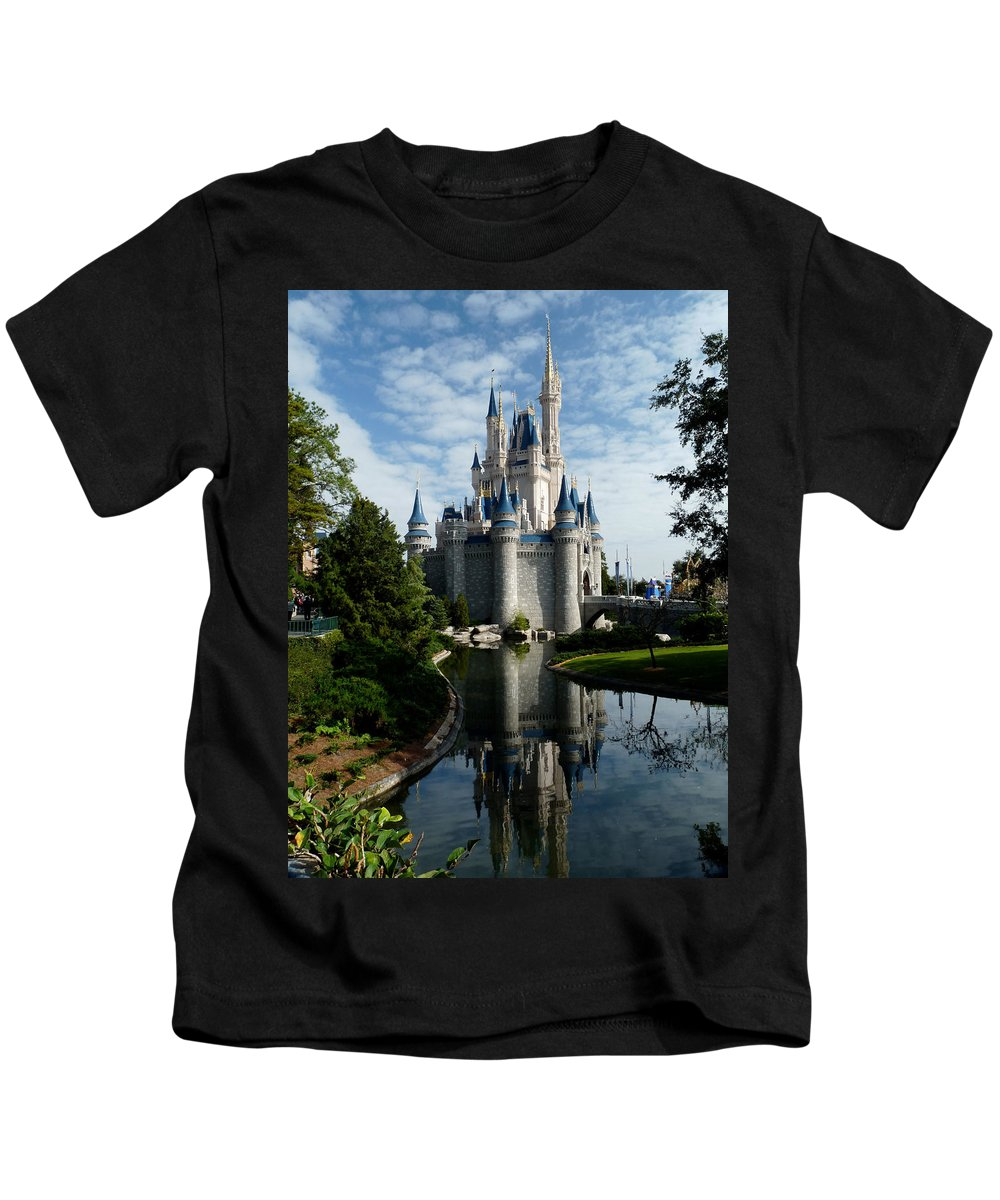 Cinderella Kids T-Shirt featuring the photograph Castle Reflections by Nora Martinez