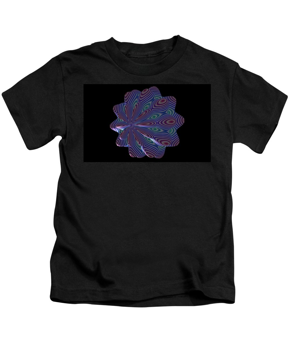 Fractal Kids T-Shirt featuring the painting Cat Toy by Bruce Nutting
