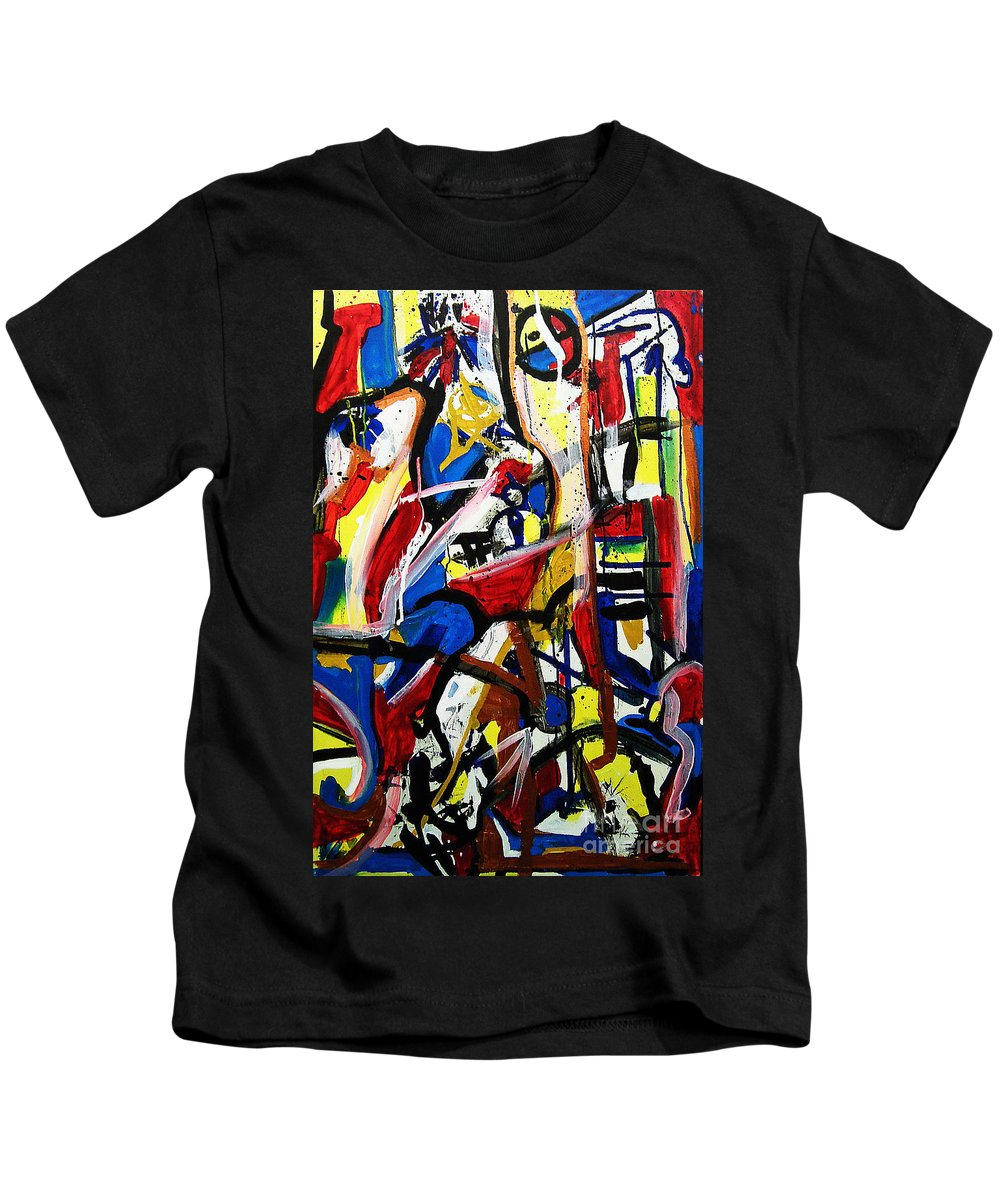 Painting Kids T-Shirt featuring the painting Catharsis by Jeff Barrett