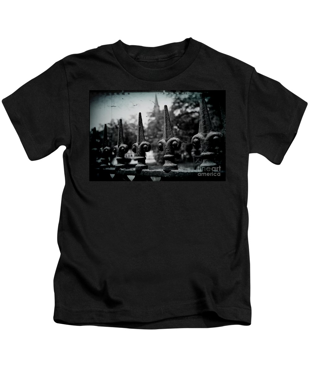 Wrought Iron Kids T-Shirt featuring the photograph Cathedral Fence by Scott Pellegrin