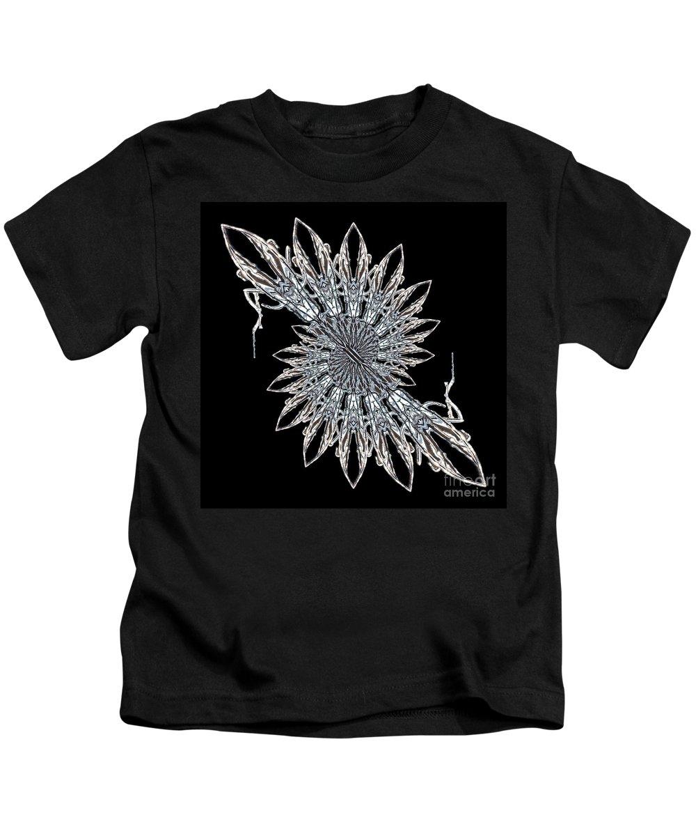 Mandala Kids T-Shirt featuring the photograph Cathedral Ice by Karen Jordan Allen