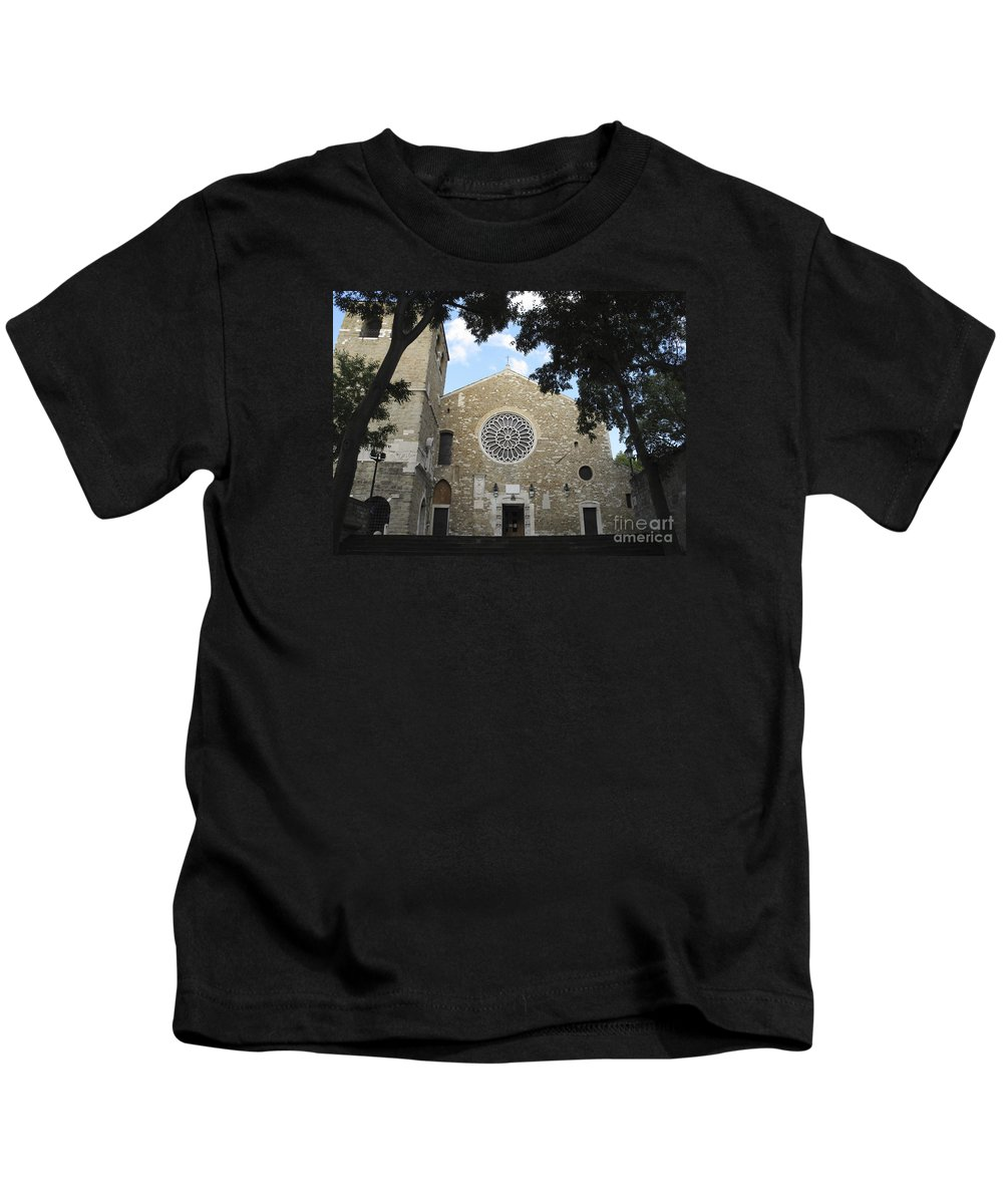 Saint Justus Kids T-Shirt featuring the photograph Cathedral Of San Giusto by Riccardo Mottola