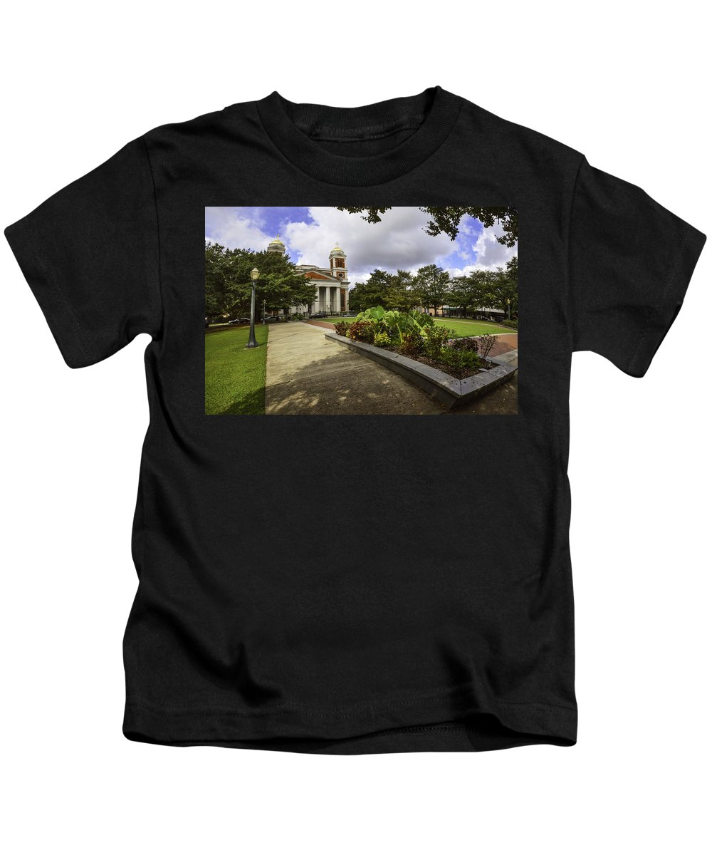 Palm Kids T-Shirt featuring the photograph Cathedral Square And Church by Michael Thomas
