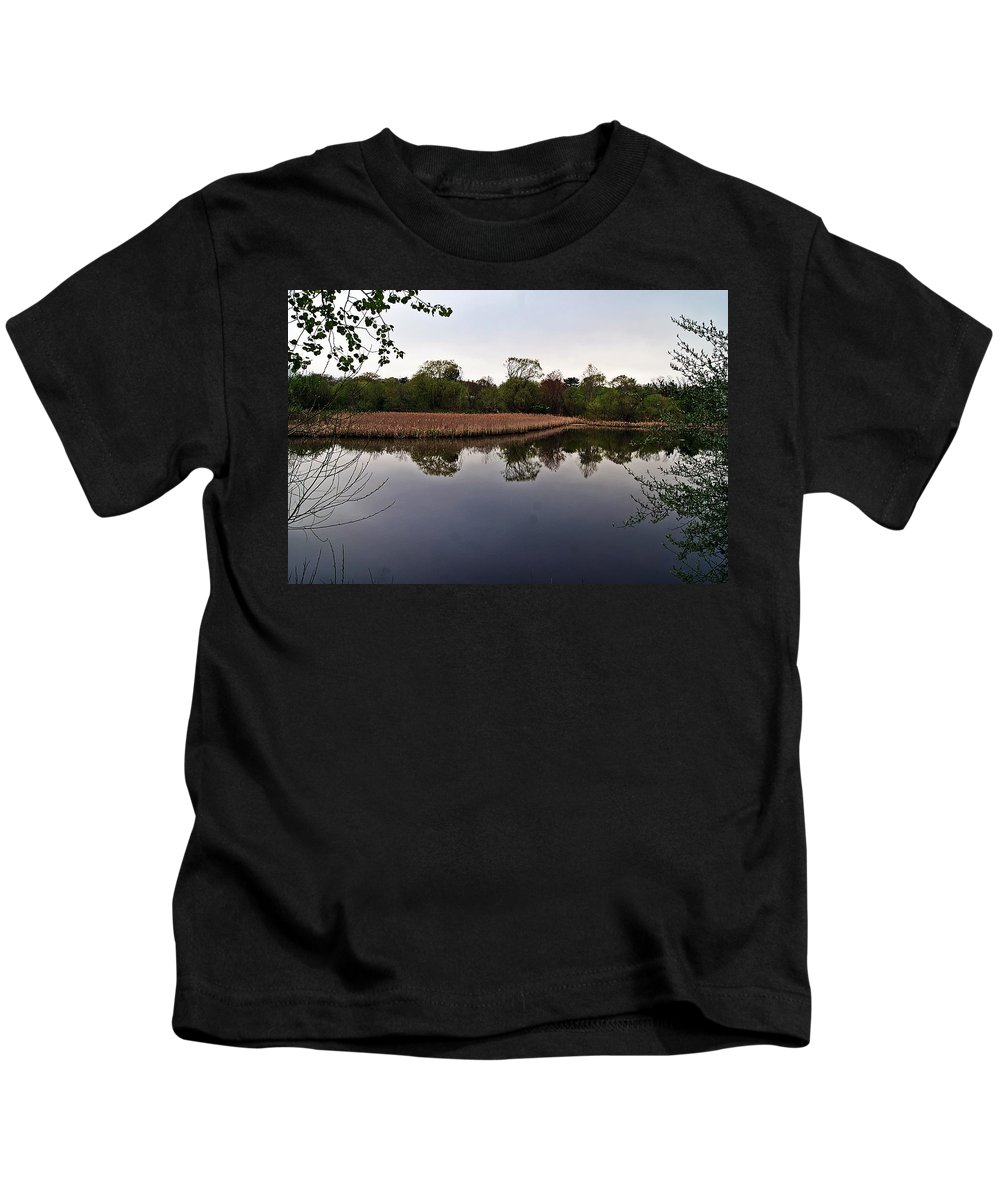 Cattail Kids T-Shirt featuring the photograph Cattail Swamp I by Joe Faherty